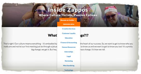 Zappos Stellenanzeige abschaffen